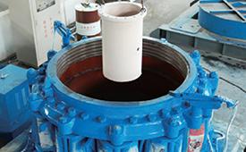 单缸圆锥破碎机的动锥由底部液压活塞托起